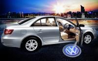 Volkswagen Габаритные светоотражатели в двери с проекцией логотипа, 2 части