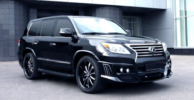 Lexus LX570 (07-12) Накладки WALD BLACK BISON на пороги