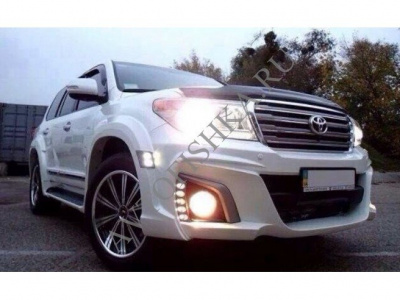 Toyota LAND CRUISER 200 (12-15) Расширители передних арок  WALD под LED-диоды